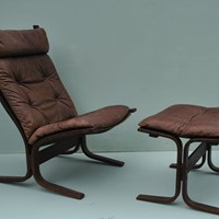 "Ingmar Relling ""Siesta"" chair and ottoman"
