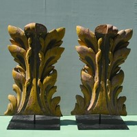 very large acanthus leaf  carvings from a carousel