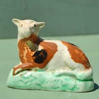 cream-ware sheep c1800