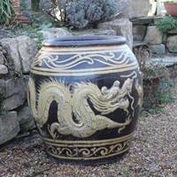 Large Chinese Dragon Pot
