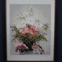 Large Limited Print of flowers Michel-Henry