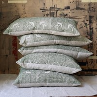 Cushions in hand block printed fabric