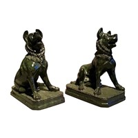 Pair of Grand Tour Marbles of Alcibiades Hounds