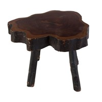 A Large C19th Yewwood Low Rustic Occasional Table