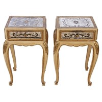 Pair of Eglomese Mirrored Bedside Tables