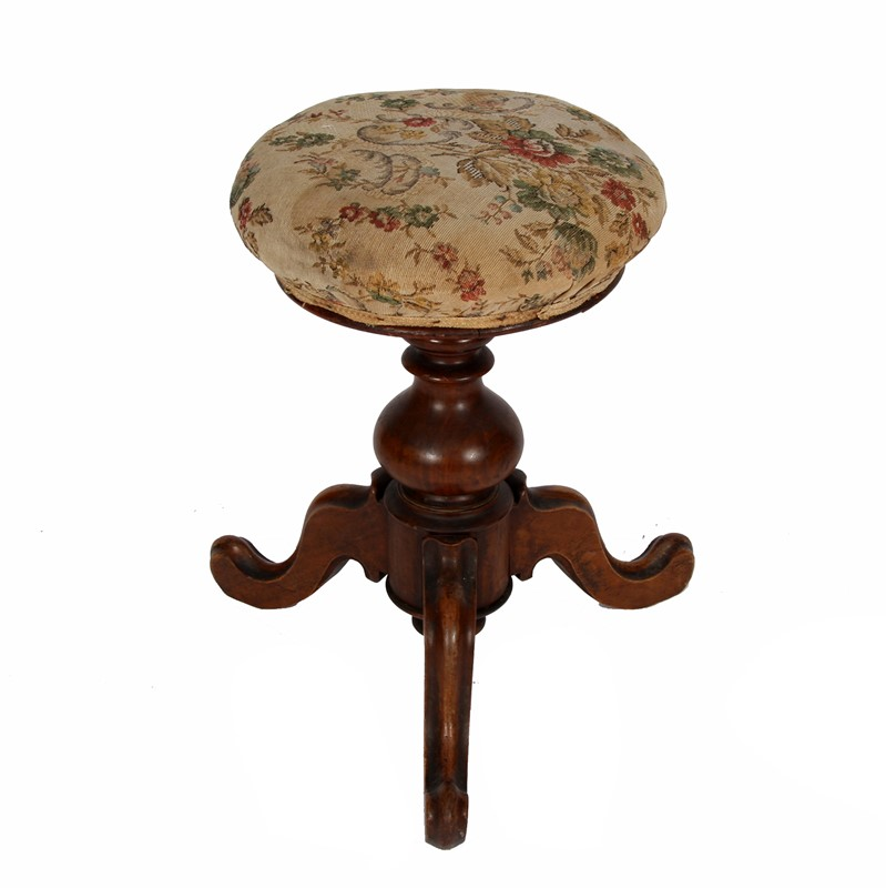 Walnut Stool with Upholstered Seat-james-worrall-floral-fabric-stool-a-main-637003452323369468.jpg