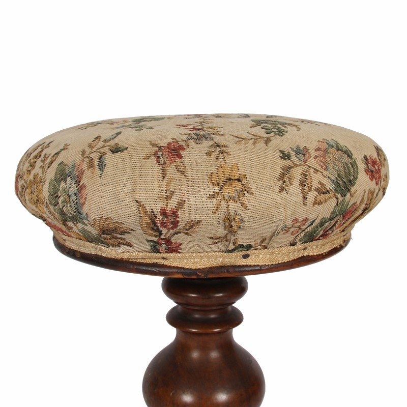 Walnut Stool with Upholstered Seat-james-worrall-floral-fabric-stool-d-main-637003452465104674.jpg