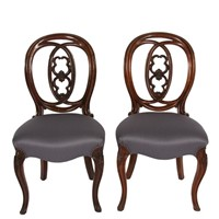 Pair of 19th Century Mahogany Dining Chairs