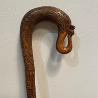 An Very Finely Carved Scottish Walking Stick