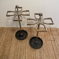 Pair of Stylish Mid-Century Metal Stick Stands