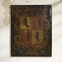 Wonderful 18thC Coat of Arms on Canvas