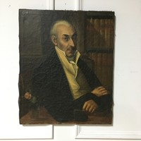 An Interesting 19th Century Oil on Canvas Portrait