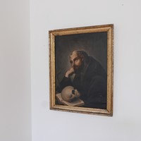c19th century St. Jerome Religious Painting