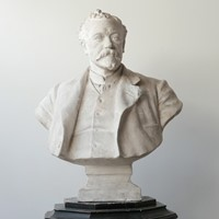 20th Century Plaster Bust of a Gentlemen