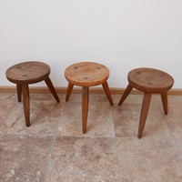 Mid-Century Belgium Stools in Manner of Axel Einar