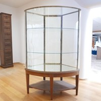 Exceptional English Bow Glass Display Cabinet