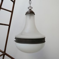 Antique Two Tone German Large Pendant Light