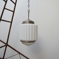 Art Deco Two Tone 'Skyscraper' Pendant Lights (5)