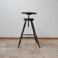 Antique French Artist Adjustable Stool