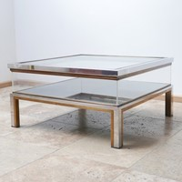 French Mid-Century Vitrine Coffee Table
