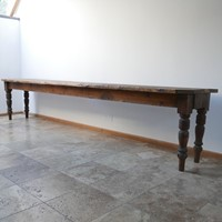 Substantial 19th century Dairy Table