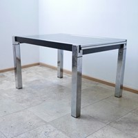 Mid-century Italian Chrome Extendable Dining Table