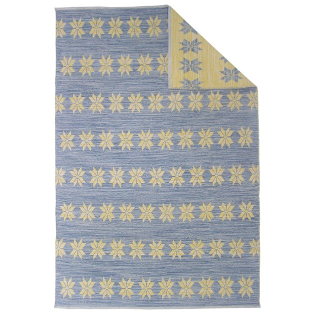 Blue and yellow double-sided Star rug-joshua-lumley-contemporary-Blue and yellow star rug - blue cut out_main_636135105237130456.jpg