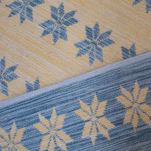 Blue and yellow double-sided Star rug-joshua-lumley-contemporary-Blue and yellow star rug detail_main_636135087595277792.jpg