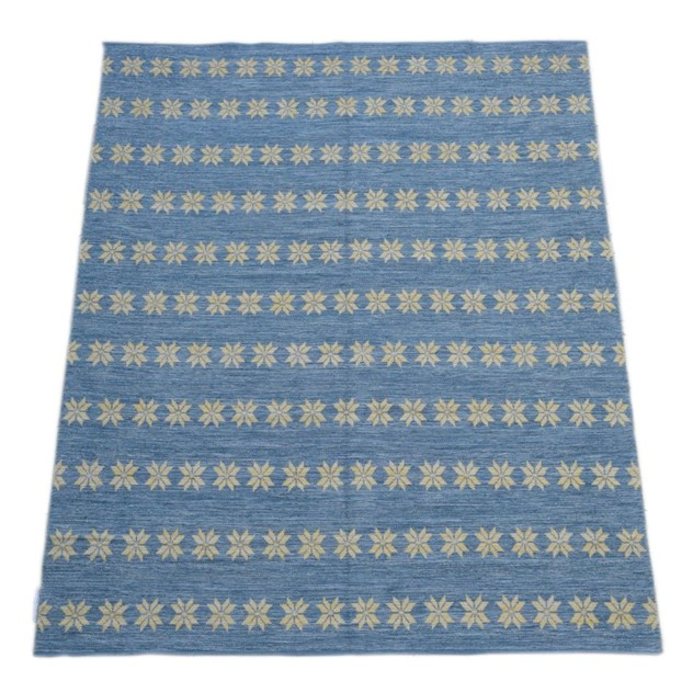 Blue and yellow double-sided Star rug-joshua-lumley-contemporary-Large blue star rug cut out_main_636256168242100708.jpg