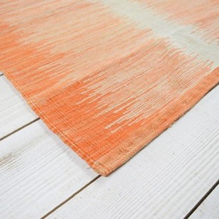 Contemporary Kara kilim runner - orange