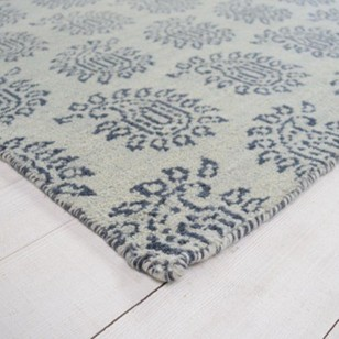 Contemporary Parthia rug - grey and white