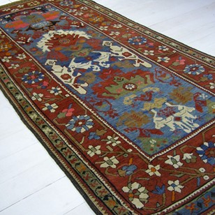 Antique Caucasian gallery carpet