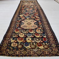 Antique Caucasian Karabagh runner of rare design