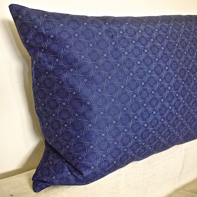 Dark Blue and White Print Cotton Cushion French-katharine-pole-dark-b-and-w-cush-side-sq-main-636798858798126612.jpg