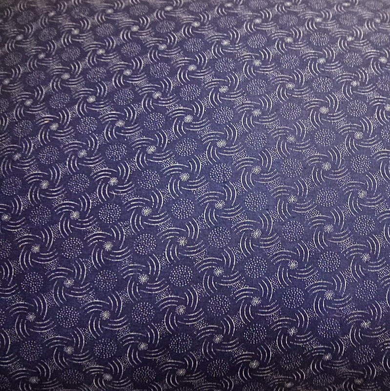 Dark Blue and White Print Cotton Cushion French-katharine-pole-ind-print-cush-text-across-main-636798858311009297.jpg
