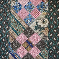 Large Patchwork Cotton Quilt English 19th Century