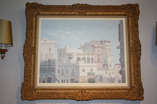 Framed oil of Havana, Cuba, c1950-kiki-design-Havana picture - 1_main.jpg