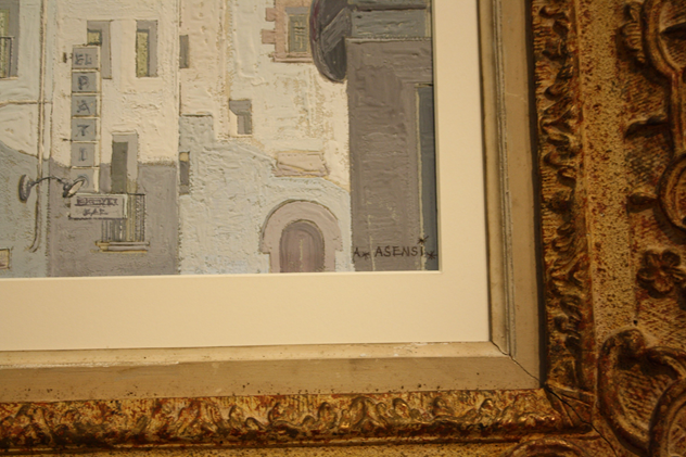 Framed oil of Havana, Cuba, c1950-kiki-design-Havana picture - 4_main.jpg