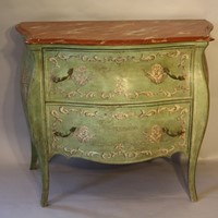 Bombe shaped commode
