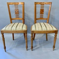 Pair of Italian side chairs