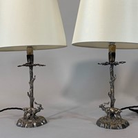 Pair of stag lamps