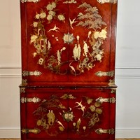 Chinoiserie buffet deux corps