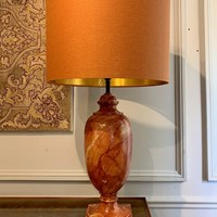 Marble effect resin lamp