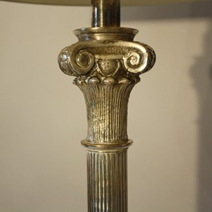 Silver Ionic floor lamp