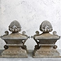 Pair of French Zinc Finials