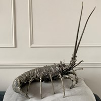Mauro Manetti Pewter Lobster Italy 1950'S