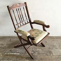Victorian Folding Campaign Chair