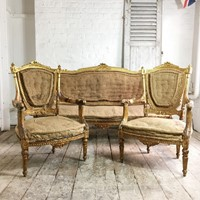 French Louis XVI Giltwood Salon Suite