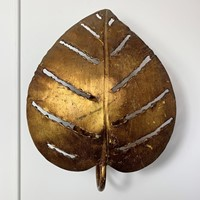 Single Maison Jansen Monstera Leaf Wall Light