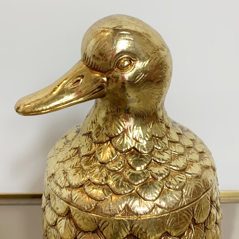 Gold Mauro Manetti Duck Ice Bucket, 1960'S-lct-home-img-4518-main-637275735840704038.jpg
